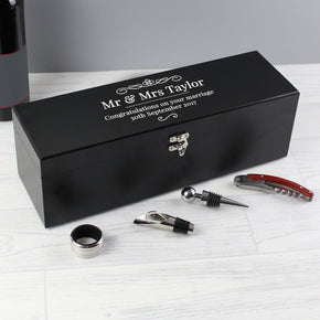 Personalised Wine Accessories Gift Box