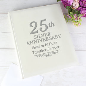 Personalised 25th Silver Anniversary Traditional Album