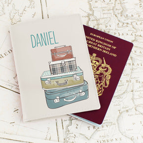 Personalised Suitcases Cream Passport Holder