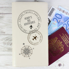 Personalised Stamp Travel Document Holder