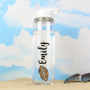 Personalised Lepoard Lips Island Water Bottle