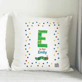 Very Hungry Caterpillar- Spotty Initial Cushion