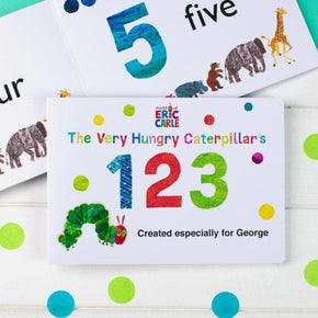 Personalised Very Hungry Caterpillar Board Book – 123