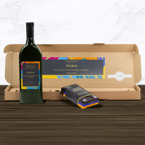 Personalised Letterbox Wine & Chocolate Box