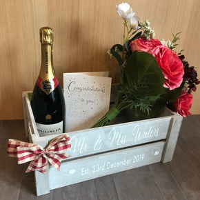 Personalised Wedding Wooden Crate