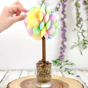 Personalised Flying Saucer Sweet Tree - 25cm