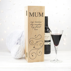 Mother's Wine Box With Swirls