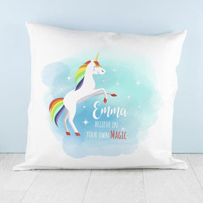Personalised Rainbow Unicorn Cushion Cover