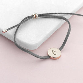 Personalised Always With You Initial Grey Bracelet