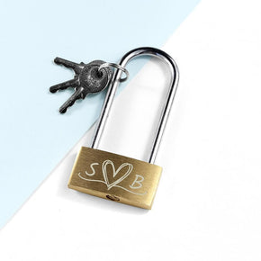 Personalised Couples' Padlock