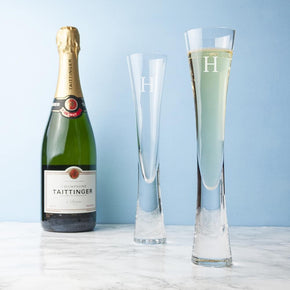 Personalised LSA Champagne Flutes Set of 2