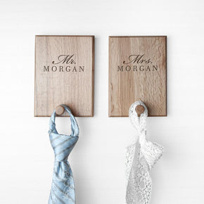 Personalised Stylish Couples Peg Hook