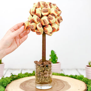 Personalised Reeces Peanut Butter Cup Sweet Tree - 25cm