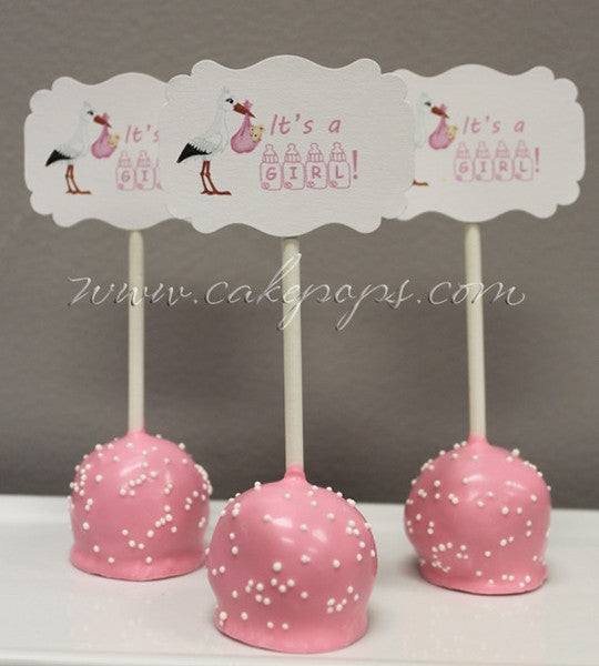 "candy's cake pop blog tagged ""cake pop gifts""  candy's cake pops, Baby shower invitation"