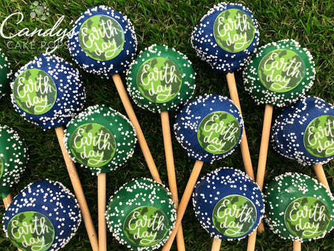Earth Day Cake Pops with Bamboo Sticks - April 22nd - 10% of order is Donated to 40cean