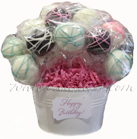 Custom Cake Pop Basket (2 Dozen)