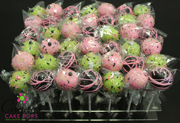 Acrylic Cake Pop Stand with Cake Pops - Holds 42 Cake Pops (42 Custom Color Cake Pops Included)