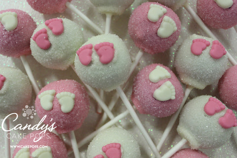 baby feet cake pops  candy's cake pops, Baby shower invitation