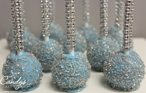 Custom Color Cake Pops with Bling Sticks