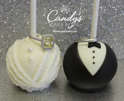 Bride & Groom Wedding Cake Pops | Candy\'s Cake Pops