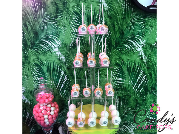 Acrylic Cake Pop Stand - For Self-Standing Cake Pops (Upsidedown) Holds up to 78 Cake Pops - Stand Only
