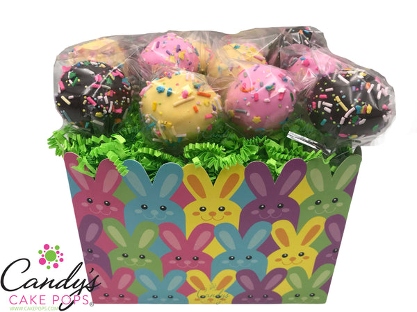 Bunny Peeps Easter Cake Pop Gift Box