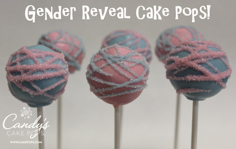 Gender Reveal Cake Pops (Vanilla Cake dyed either pink or blue inside)