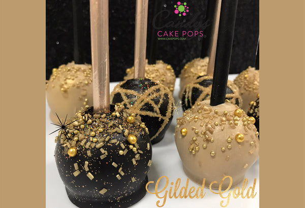 Luxury Gold Cake Pop Favors (Starts at 1.5 Dozen/Self- Standing)