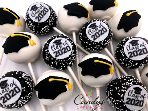 Graduation 2020 Cake Pops - Custom School Colors