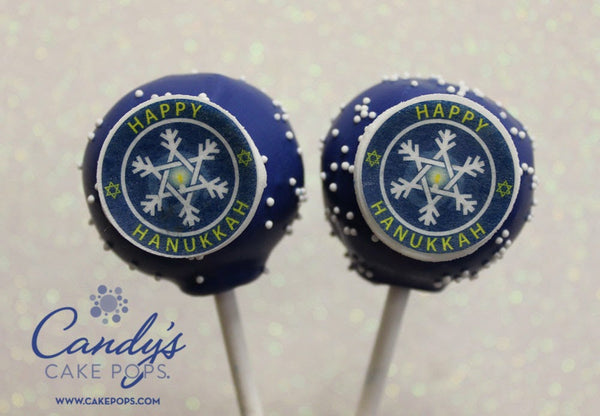 Happy Hanukkah Cake Pops