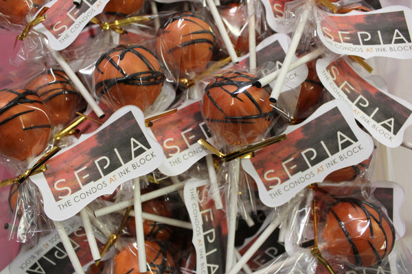 Custom Corporate Logo Tag Cake Pops
