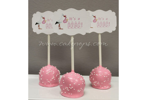 Baby Shower Cake Pop Favors (Girls)