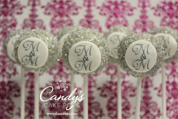 Custom Monogram Cake Pops