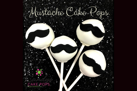 Mustache Cake Pops (you may customize color chocolate and mustache color)