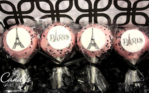Paris Cake Pops - Parisian Eiffel Tower