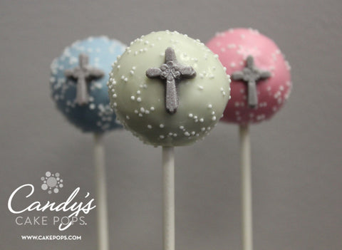 Custom Baptism Christening First Communion Religious Cake Pops - This item is for PICK UP ONLY - we do not ship as the crosses are too delicate.