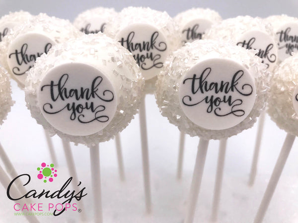 Thank You Gift Decal Cake Pops