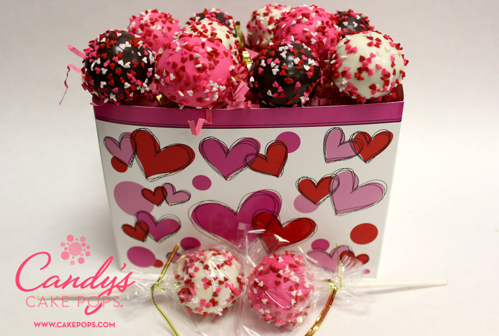 valentines day heart cake pop gift box