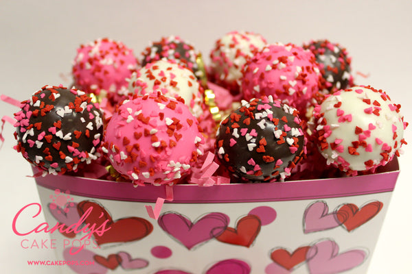 Valentine's Day Heart Cake Pop Gift Box