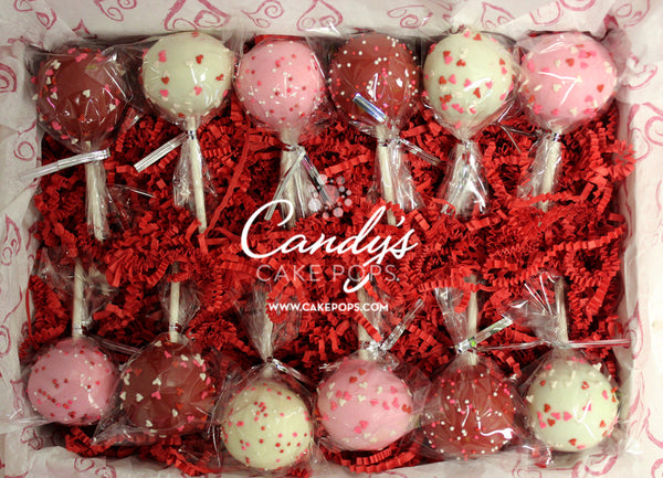 Valentine's Day Cake Pops Gift Box