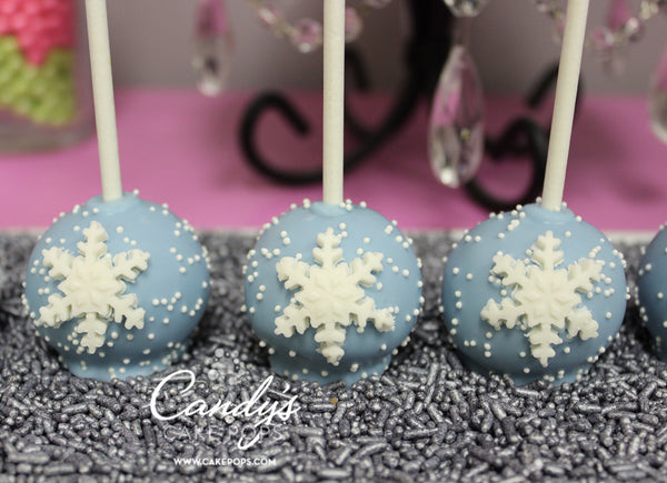 Winter Snowflake Cake Pop Favors