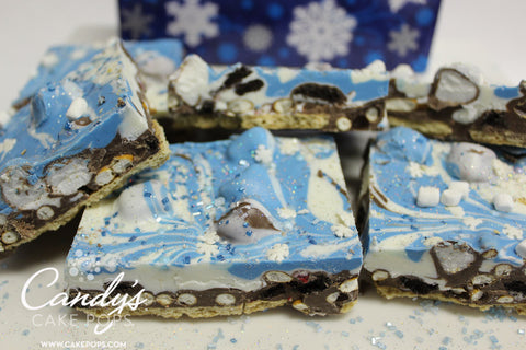 Winter Snowflake Chocolate Bark Gift Box