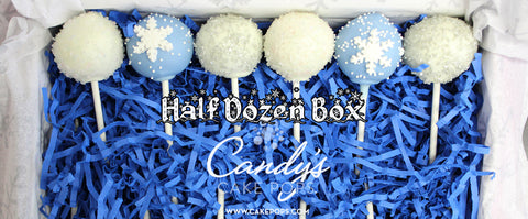 Half Dozen Winter Wonderland Cake Pop Box