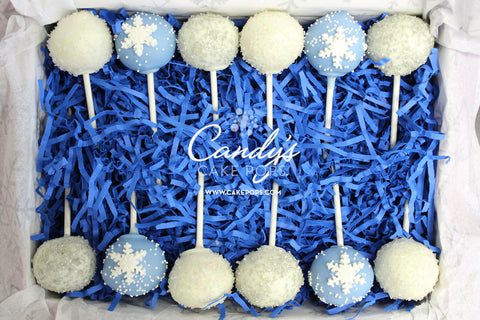 Winter Frozen Christmas Cake Pop Box