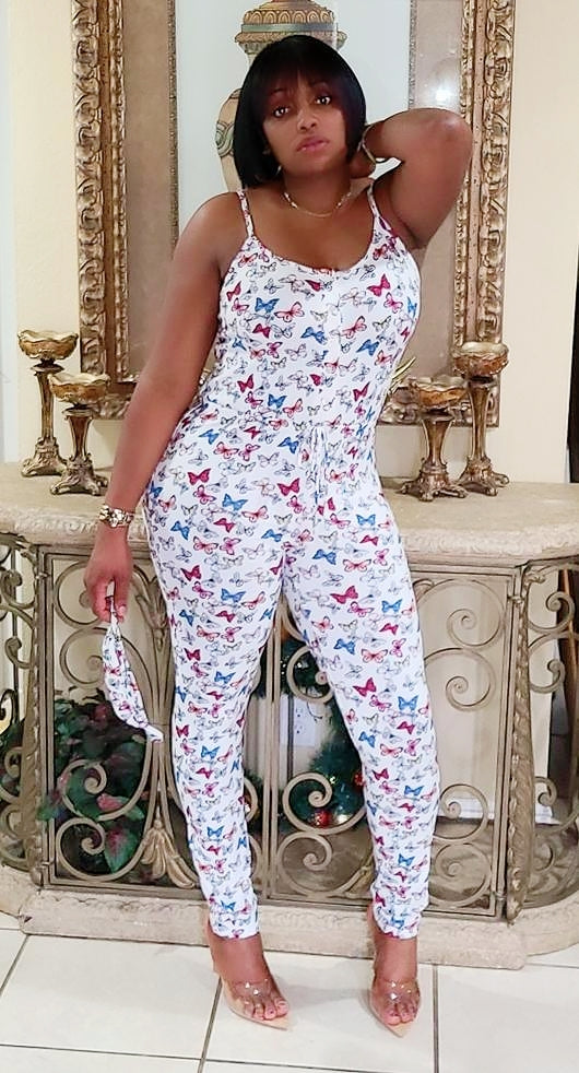 Butterfly Girl Jumpsuit with mask