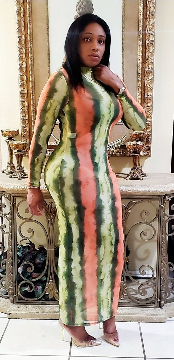 Watermelon Maxi Dress