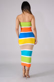 Tube Color Block dress