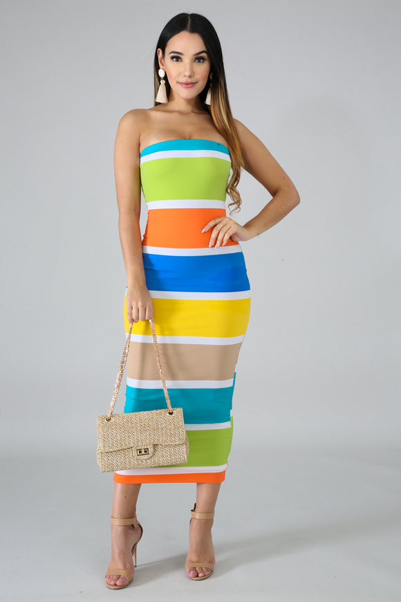 Sunny Day Color Block dress