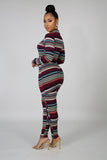 Striped in Shine Pant Set