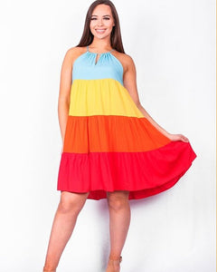 Madison Color Block Dress